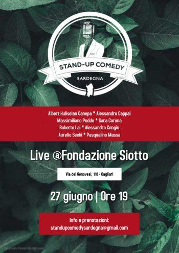 Stand up Comedy Sardegna @Fondazione Siotto #2