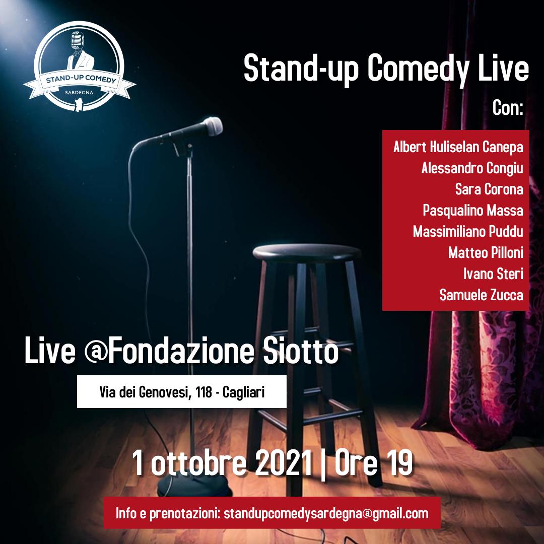 Standup comedy in Fondazione venerdì 1 ottobre