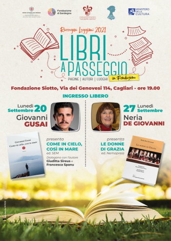 Libri a passeggio in Fondazione – appuntamenti di settembre