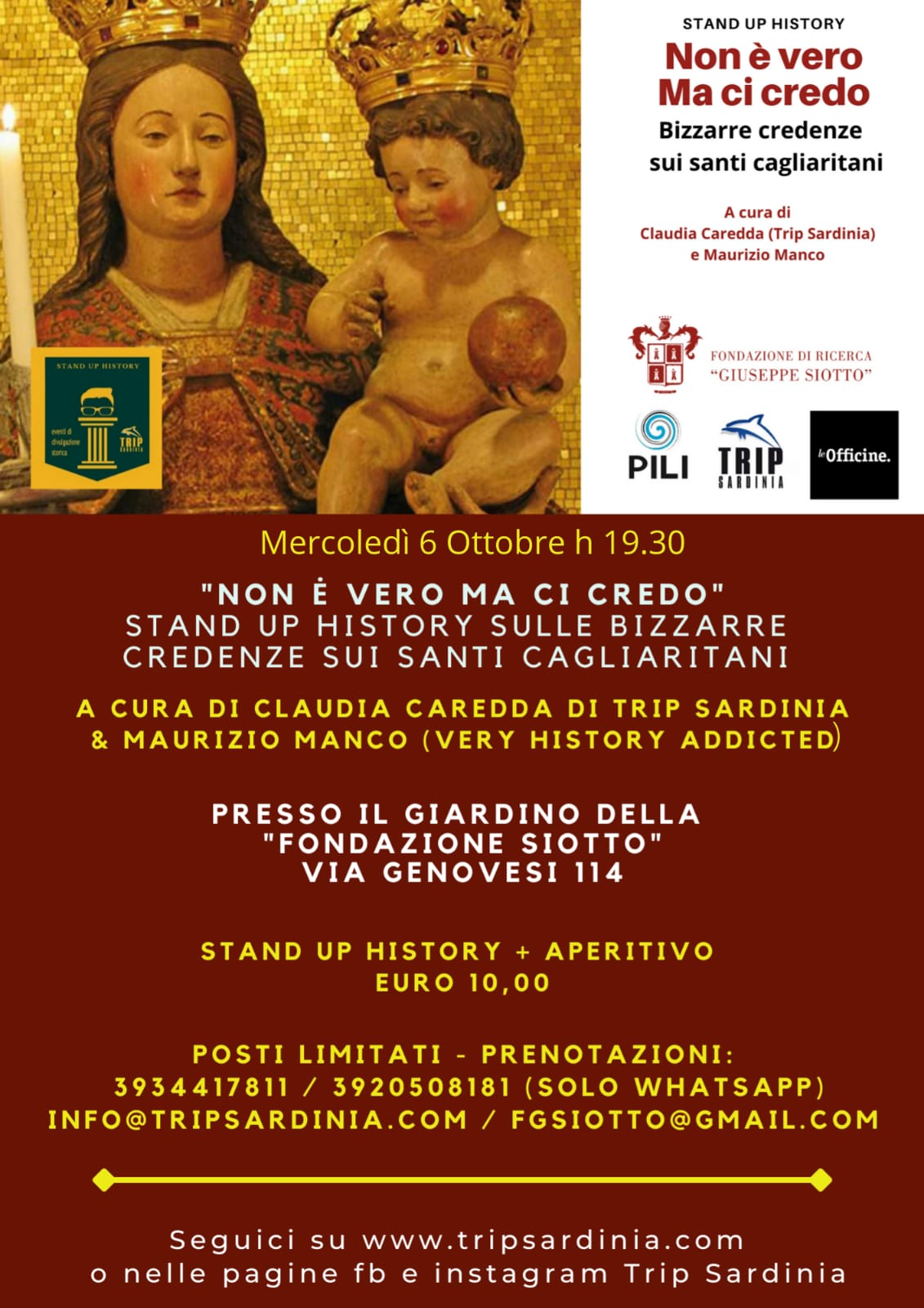 Stand up history a Palazzo Siotto